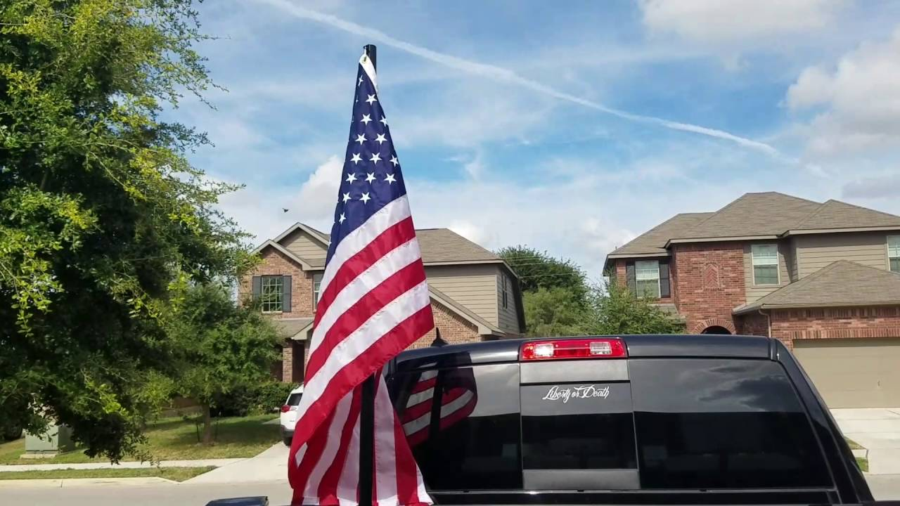 How To Mount A Flag To Truck Bed Youtube