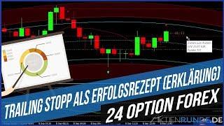 24 Option Forex: Trailing Stopp als Erfolgsrezept (Erklärung)