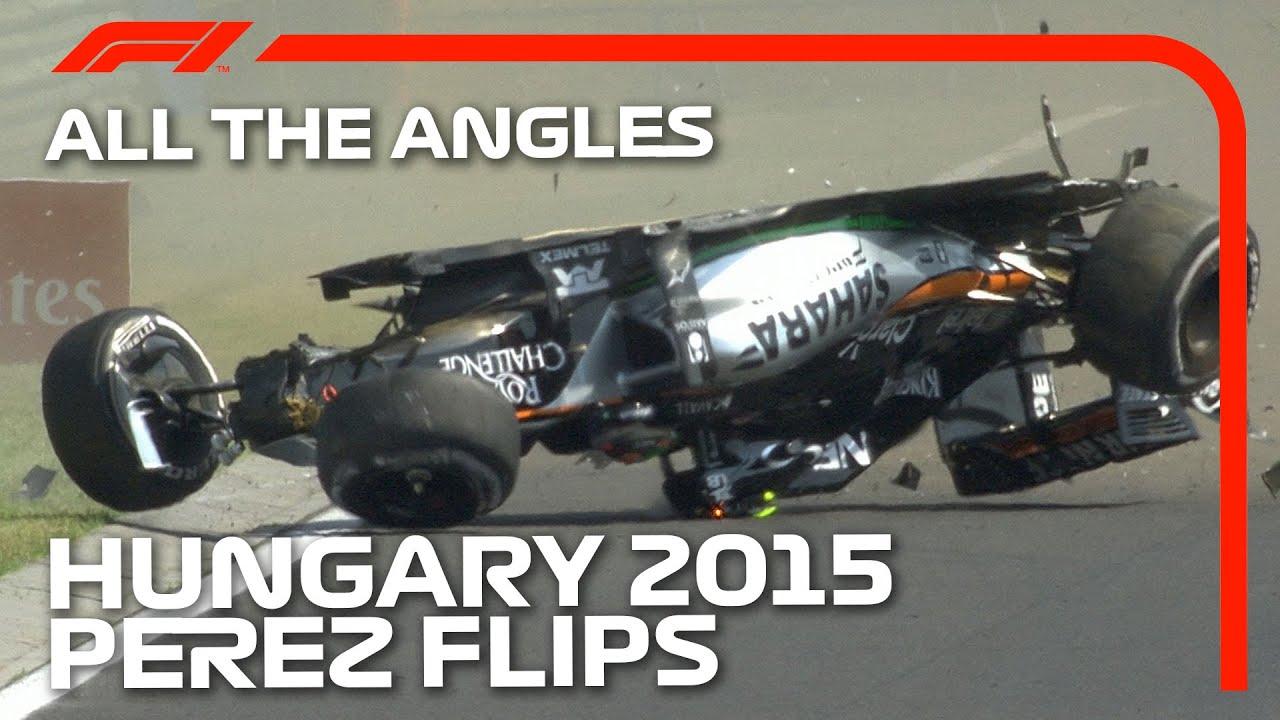Sergio Perez's Barrel Roll: All The Angles | 2015 Hungarian Grand Prix