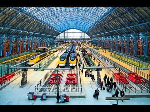 A Walk Through St. Pancras International Railway Station, London