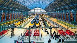 A Walk Through St. Pancras International Railway Station, London