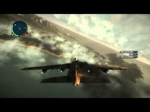 Destruccion del avion mas grande en Just Cause (con C4)