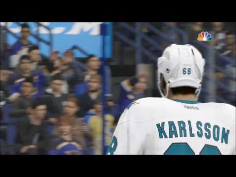 NHL 17 - San Jose Sharks vs St. Louis Blues | Gameplay (HD) [1080p60FPS]