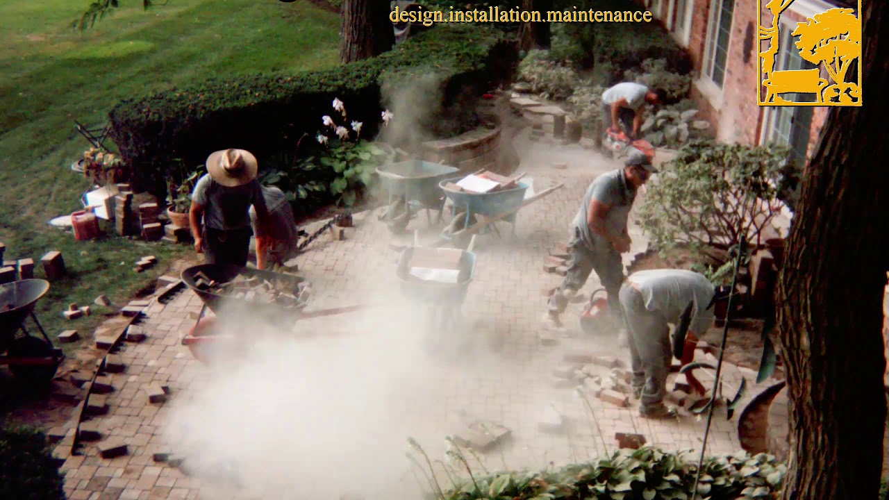 Brick Patio Repair - time-lapse & Brick Patio Repair - time-lapse - YouTube