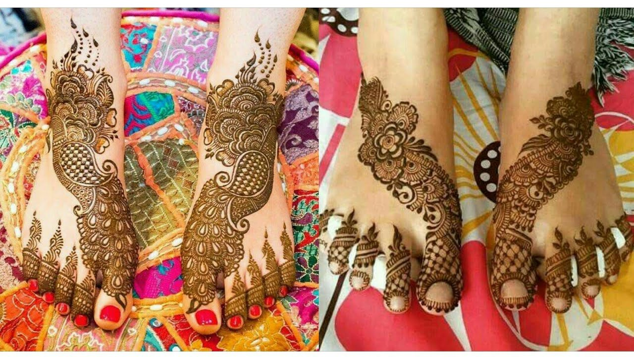 Latest Bridal Foot Mehndi Designs