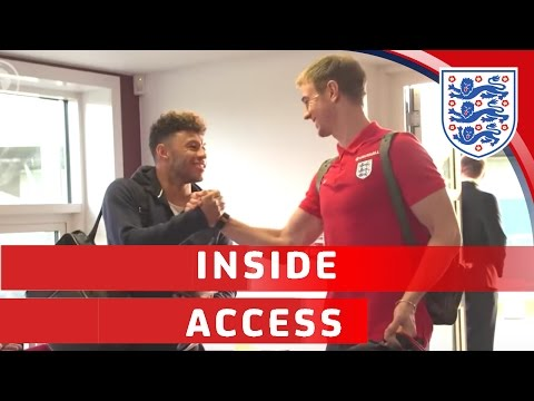 Southgate's England squad arrive at St George's Park | Inside Access