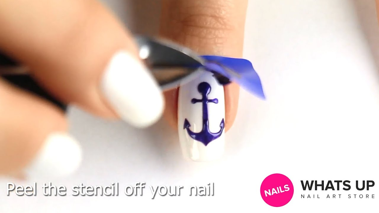 Anchor Nail Stencils and Stickers - YouTube