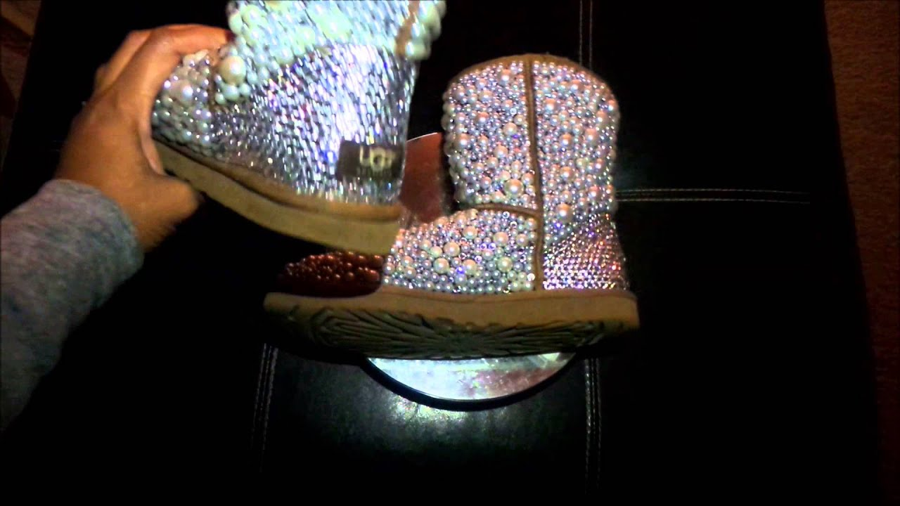 e30d3a1fe Pearl and Crystal Ugg Boot Transformation - YouTube