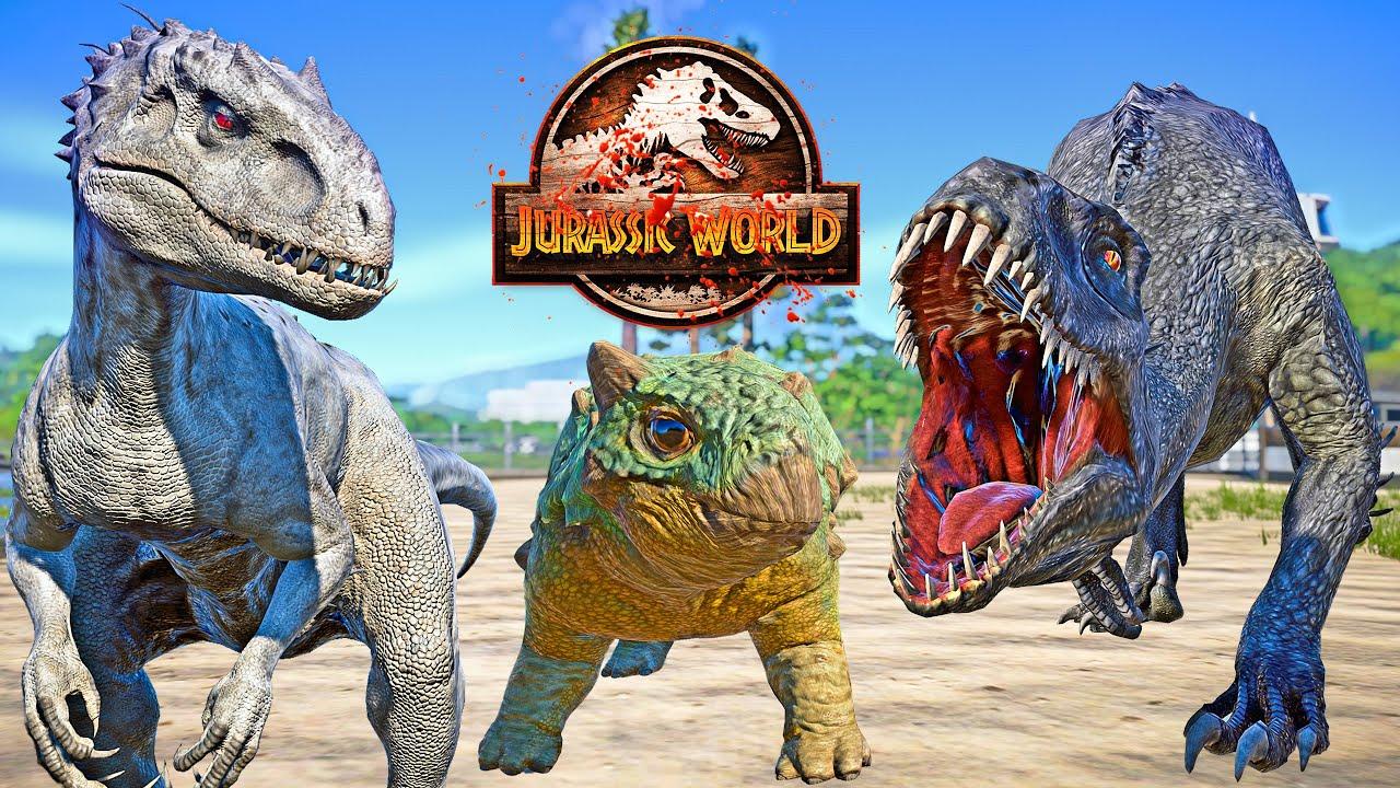 SCORPIUS REX E750 VS BUMPY, I-REX, TORO Fight in Jurassic World CAMP CRETACEOUS 🌍 JWE