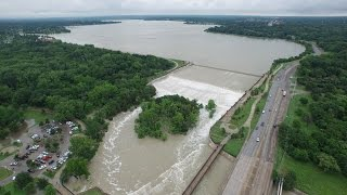 Drone Video of Dallas Floods May 29, 2015