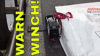 how to mount Warn Winch  - Car Hauler Trailer - adapter plate