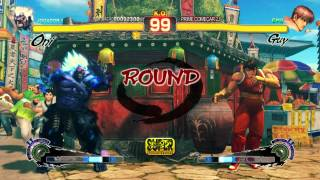 Super Street Fighter IV: Arcade Edition - PC  Gameplay  ( Oni Vs Guy )