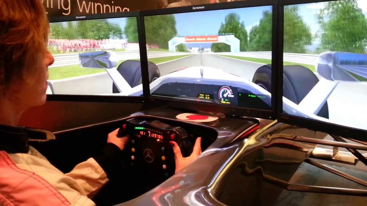 julia ticehurst in mclaren f1 simulator - youtube