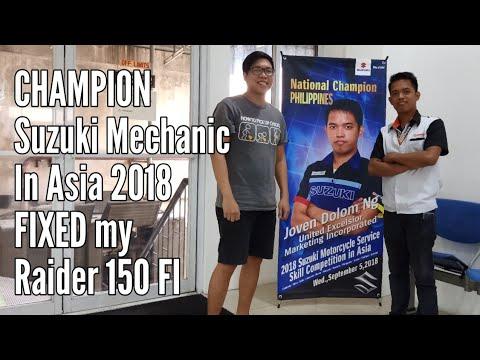 Champion Suzuki mechanic fixed my Suzuki Raider 150 FI  - Thủ thuật