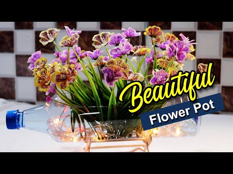 Make Beautiful Flower Baskets From Discarded Plastic Bottles| How to Bottle DIY|5 minute Craft #2020
