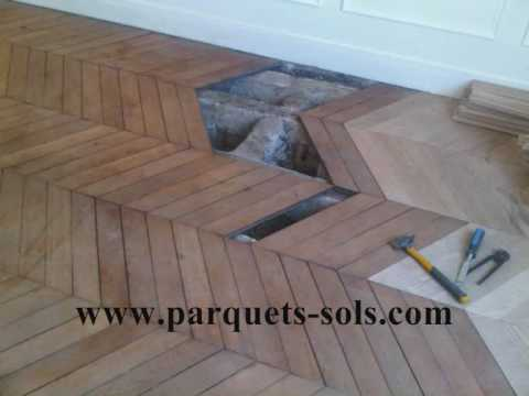 R novation de parquet ancien clou point de hongrie for Parquet renovation
