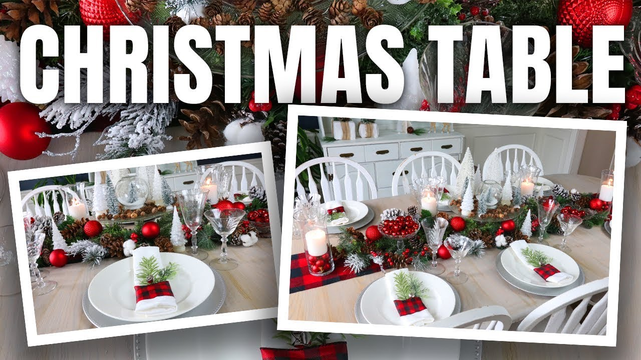 Christmas Table Decoration Ideas ???? How to Decorate your Christmas Table Dollar Tree