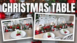 Christmas Table Decoration Ideas 🎄 How to Decorate your Christmas Table Dollar Tree