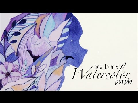 Watercolor Color Mixing Purple - How to Get It Right?