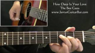 How To Play The Bee Gees How Deep Is Your Love (1st part only)
