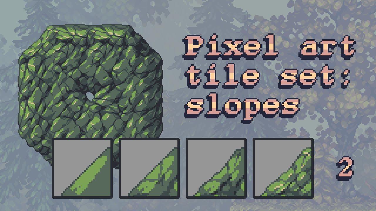 Pixel art tile set workflow part 2: slope tiles