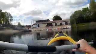 intex explorer k2 kayak footage