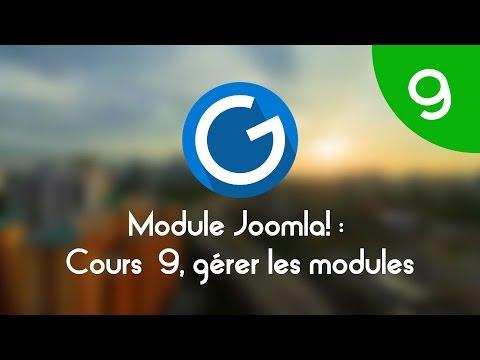 Formation IMM - Module Joomla!: Cours Tuto 9 , Gérer Les Modules