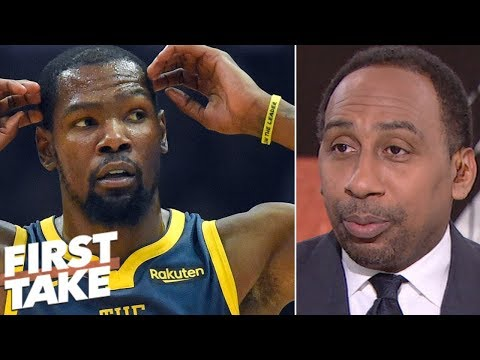Stephen A. takes issue with Kevin Durant's refusal to answer Draymond Green questions | First Take