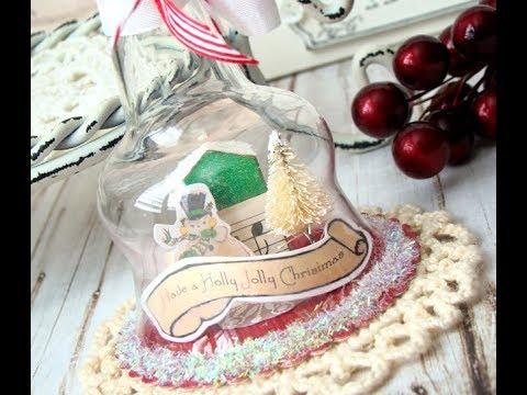 Make a mini Snow globe Como hacer un mini Snow Globe
