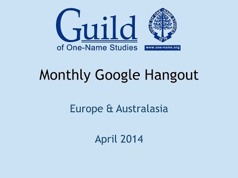 Europe & Australasia April Guild Hangout