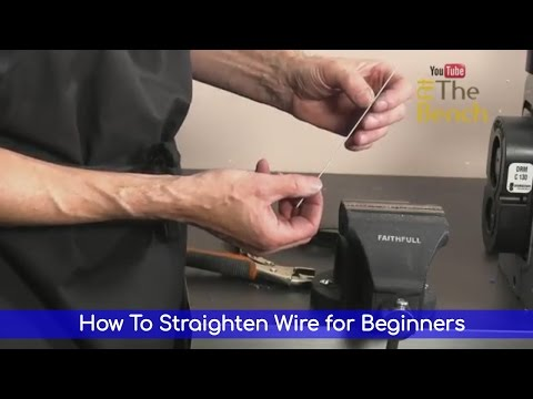 How To Straighten Wire for Beginners - Jewellery Making Technique Tutorial