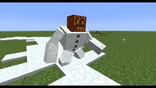 как в майнкрафте сделать большого снеговика