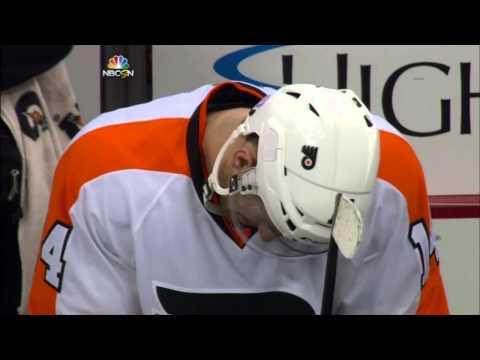 Simon Despres R.J. Umberger Fight - Pittsburgh Penguins vs. Philadelphia Flyers - Oct. 22, 2014
