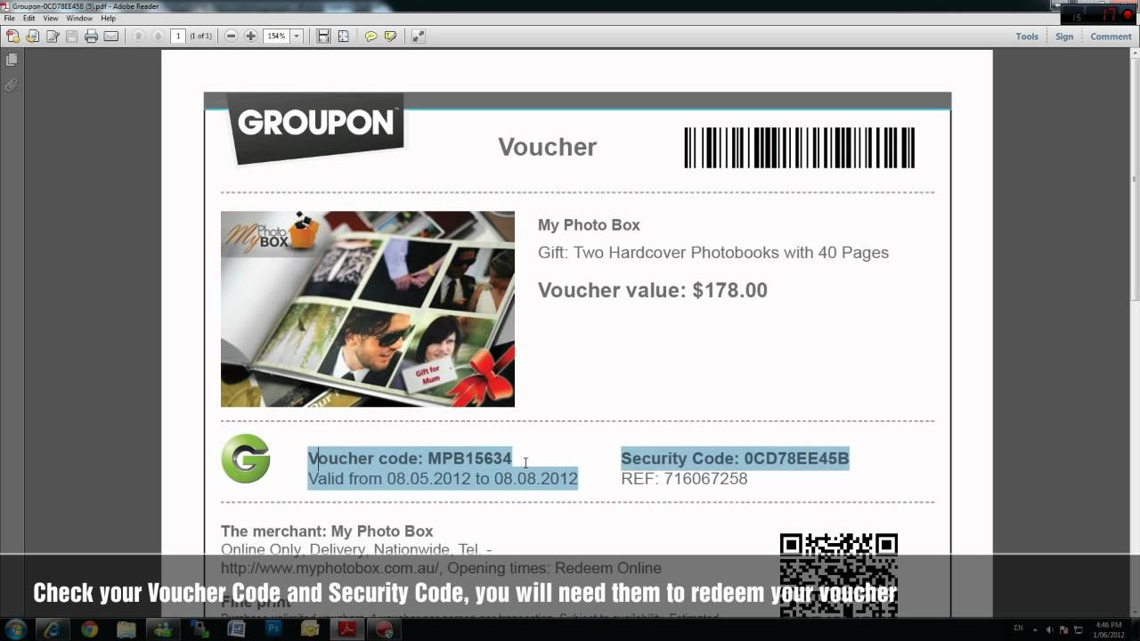 my photo box how to redeem your my photo box voucher code for