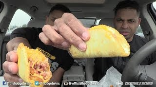 Eating Taco Bell Egg Tacos @hodgetwins