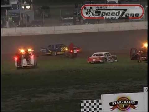 """Oshkosh Speedzone Raceway - Wreck of the Week"""" - June 28, 2013"""