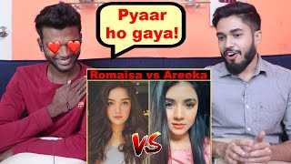 INDIANS react to Romaisa Khan Vs Areeka Haq | Tiktok Battle
