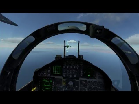 DCS Saudi F15 in Formation and Radar Training