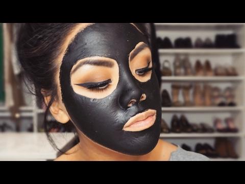 Homemade ebony facial