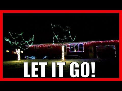 LET IT GO   Frozen   Holiday Light Show 2014   Light O Rama