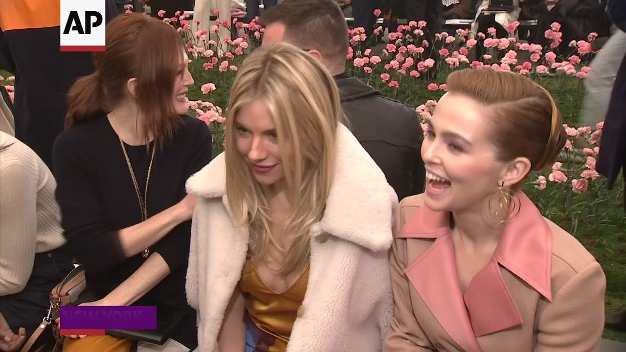 b1961b4788de Spring and A-listers at Tory Burch fashion show - YouTube
