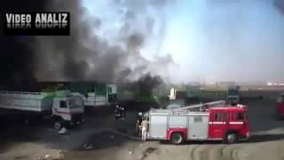 Новости! ВКС РФ нанесли удары по  конвою из бензовозов ИГИЛ. Сирия.