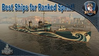 Best ships for Ranked Sprint by Class! Best Division Combo's