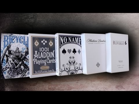 Deck Review: Republic No.2, Madison Dealers, No Name, 1001 Aladdin White & Bicycle Asura Deck