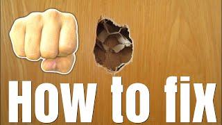 how to repair gamer rage damaged  doors made a hole?  how to repair it easy