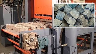 Production granite pavement stones Granite handling stone