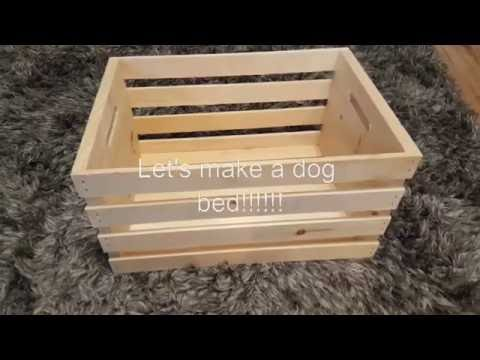 HOW TO MAKE A SIMPLE DOG CRATE BED
