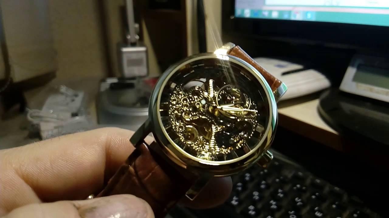 Китайские часы скелетоны мужские