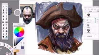 Pirate Self Portrait In Sketchbook Pro