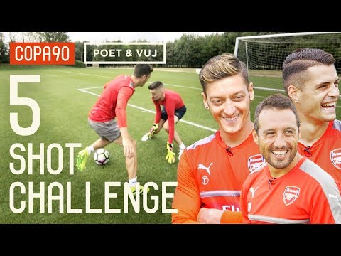 Ozil, Cazorla & Xhaka! 5 Shot Challenge with Poet and Vuj